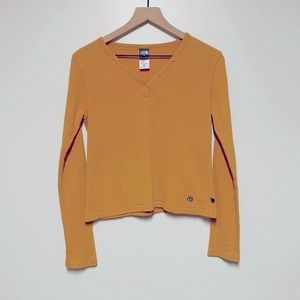 VINTAGE   THE NORTH FACE   Half Button Ribbed Top